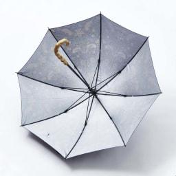 UVカット晴雨兼用長傘 ウィリアムモリス 内側