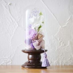 ミニガラスドーム供花 お線香付き