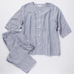 UCHINO/ウチノ マシュマロガーゼ メンズ七分袖パジャマ