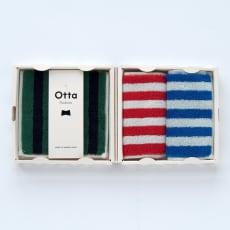 【今治産】Otta(オッタ)ハーフタオルハンカチ 同柄3枚組ギフトセット