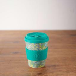 Ecoffee Cup/エコーヒーカップ 容量355ml ウィリアム・モリス柄 1個 (ウ)Seaweed Marine オフィスや書斎などのマイカップとして