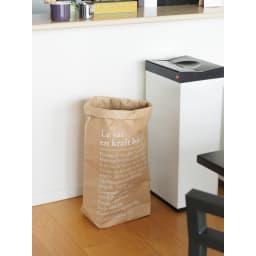 BE-POLES PAPER BAG(ビーポール/ペーパーバッグL) 強度のある紙素材で、おうちの中のいろんなものを簡単収納!