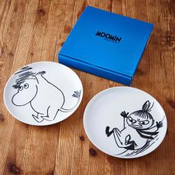 ムーミン ペア ケーキプレートセット 日本の食卓でも使いやすい大きさに考えられたワンプレート皿。