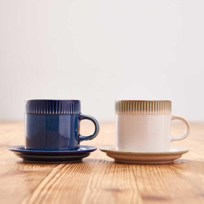 ポトペリー blur ペア デミタス コーヒーカップ&ソーサー カップ2個、ソーサー2枚セット