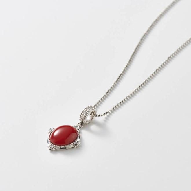 大倉珊瑚店 PT血赤珊瑚ダイヤペンダント