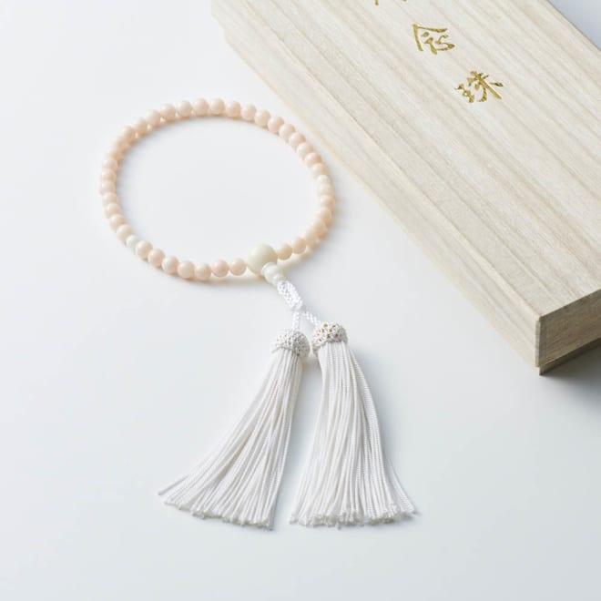 大倉珊瑚店 ミスボケ珊瑚数珠6mm