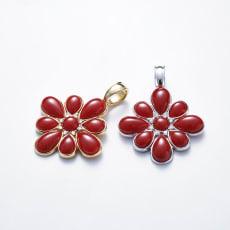 大倉珊瑚店 K18 血赤珊瑚ペンダントヘッド