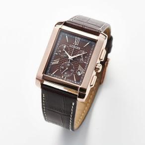 CITIZEN/シチズン 【メンズ】 エコ・ドライブ腕時計 AT0568-08X スクエア   写真