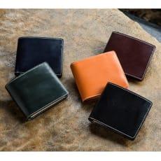 ブライドル レザー 二つ折り財布 (お名前刻印)
