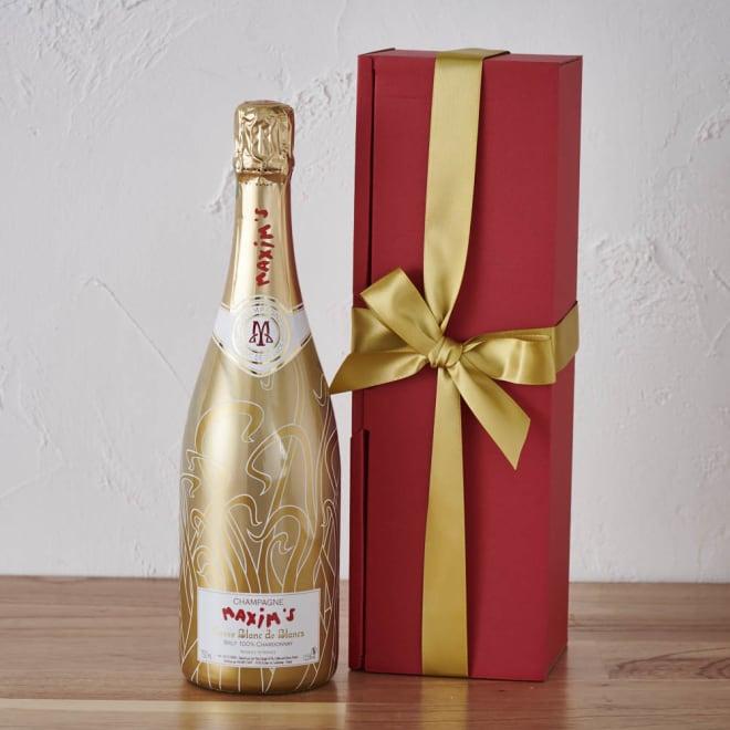 【Xmas・シャンパン】 シャルドネ マキシム・ド・パリ「ブラン・ド・ブラン」 ギフトボックス入り