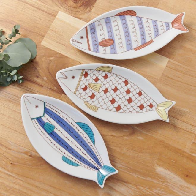 ハレクタニ 魚皿 新しい九谷焼「ハレクタニ」。人気のサカナデザインです。