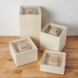 日本製 桐の米びつ 10kg 玄米用、白米用などで分けられるように、複数揃えると便利です。