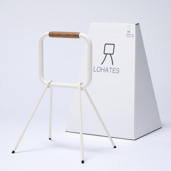LOHATES/ロハテス 立ち上がり補助手すり (ア)ホワイト