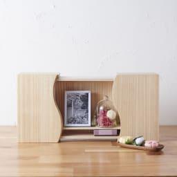 想ひ箱 日本製ミニ仏壇 ナチュラル    故人様との語らいの場をご自宅で。リビングにも置きやすいコンパクトサイズです。