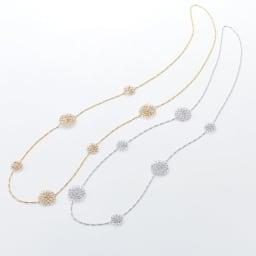 Kirakira Necklace/タカハシナオミ クロッシェ ロングネックレス 左から(ア)ゴールド (イ)シルバー