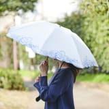 花紀行 クリスタルガラス&ペイズリー刺繍 二重張り折り畳み日傘 写真
