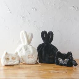 小悪魔Cat ファーバッグ&ポーチセット