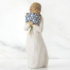 ウィローツリー彫像 Forget me not 私のこと忘れないで 写真