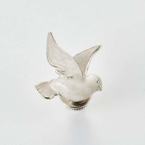 SATURNO/サツルノ SVピンブローチ白鳩 写真