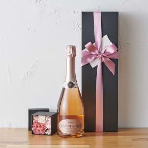 【母の日ギフト】ロゼスパークリングワイン&プリザーブドフラワー 写真