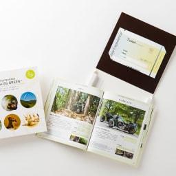 体験ギフト・総合版カタログ GREEN ガイドブックとチケットをセットしオリジナルBOXに入れてお届け