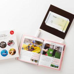 体験ギフト・総合版カタログ RED ガイドブックとチケットをセットしオリジナルBOXに入れてお届け
