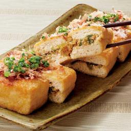 神楽坂つみき監修 惣菜3種セット 【盛り付け例】油揚げねぎ味噌ステーキ