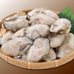 広島県産蒸し牡蠣 (300g)×1袋 【盛り付け例】