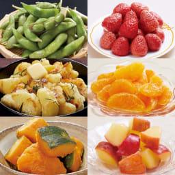国産野菜とフルーツの6種セット 【盛り付け例・調理例】
