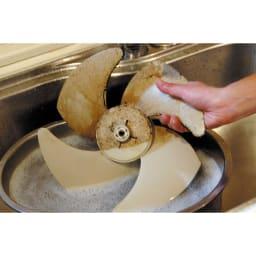 ニューアミロン 2L(ホワイトラベル) 換気扇の頑固な汚れは5倍に薄めた液につけ置きすればスムーズに。
