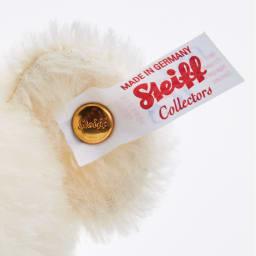 〈シュタイフ×寿慶〉 テディベア サムライ 三日月 サムライベアアクリルケースセット 限定商品を表す白タグ付き