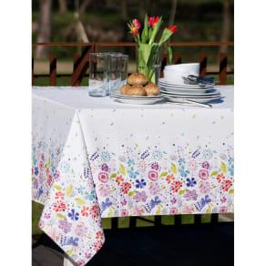 スペイン製花柄テーブルクロス 約150×150cm 写真