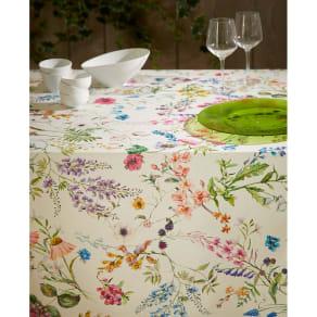 スペイン製花柄テーブルクロス 約150×250cm 写真