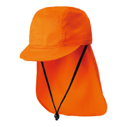 防災帽子 防炎性能・自己消火性能の高い生地を使用。