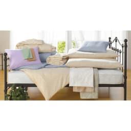 敷布団ダブル4点 (綿生地のダニゼロック お得な布団セット) 防ダニ機能はそのまま、寝心地を大幅にリニューアルしました!