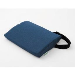 【椅子背面用クッション】ランバーサポート (エ)藍