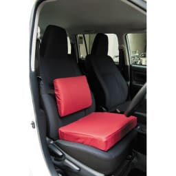 【セットでお得!】黒川式おしり楽々3層クッション&ランバーサポートのセット 車にも便利に使えます。