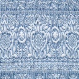 スペイン製フィットカバー「カーシャ」 ソファカバー アームなし 素材アップ(エ)ブルー