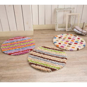 円形・径約50cm スペイン製ウィルトン織りマット[ロッタ] 写真