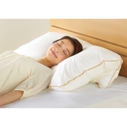 【フォスフレイクス】枕クラシック 枕のみ 使い方いろいろ 折り曲げて心地よい高さに。