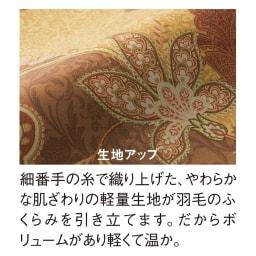 ディノス×西川 特選羽毛掛け布団 増量タイプ シングルロング (イ)ゴールド 軽量生地で羽毛ふっくら