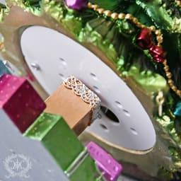 クリスマスツリー型オルゴール ゼンマイ式のオルゴールです。