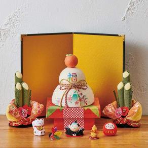 〈京都龍虎〉 鏡餅&門松 セット 写真