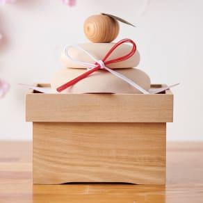 国産白木の鏡餅(台座付き) 写真
