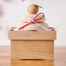 国産白木の鏡餅(台座付き)