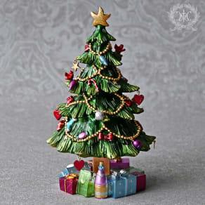 クリスマスツリー型オルゴール 写真