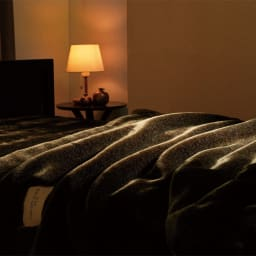 イタリアンデザイン×日本の職人技から生まれた上品さと感動の肌ざわり【カルドニード(R)エリート】敷き毛布 使用イメージ※お届けは敷き毛布です。