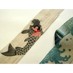 〈京都洛柿庵〉節句飾り細タペストリー 端午の節句 (ウ)鯉乗り金太郎