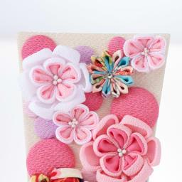 〈京都 夢み屋〉ちりめんひな飾り 花かんざし羽子板単品