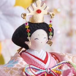 〈京都龍虎〉ちりめん舞桜雛飾り ほっこりやさしいお顔